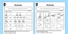 Differentiated Animals Activity Sheet