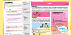 PlanIt - Science Year 2 - Plants Planning Overview