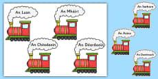 Irish Days of the Week on Trains