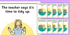 Tidy Up Time Social Story Posters