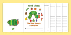 7 Day Food Diary Writing Frame to Support Teaching on The Very Hungry Caterpillar