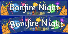 Bonfire / Fireworks Display Banners