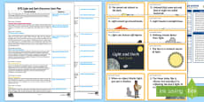 EYFS Light and Dark Discovery Sack Plan and Resource Pack
