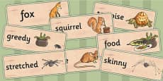 Why Anansi Has Eight Skinny Legs Word Cards