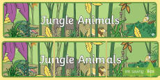 Jungle Animal Themed Display Banner