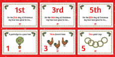 Twelve Days of Christmas Visual Aids