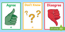 * NEW * Agree, Disagree, Don't Know Display Posters