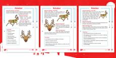 KS1 Reindeer Differentiated Reading Comprehension Activity