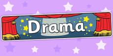Drama Display Banner