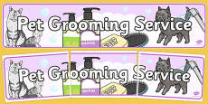 Pet Groomers Role Play Banner