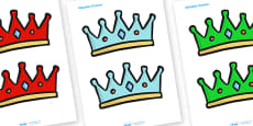 Editable Coloured Crowns