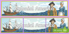 * NEW * Colonial America Display Banner