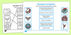 Aboriginal Art Symbols Activity Sheet