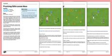 LKS2 Football Skills 5: Practising Skills Lesson Pack