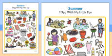 Summer Themed I Spy With My Little Eye Activity