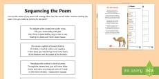 Camel Poem Sequencing Verses Activity Sheet