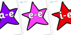 Modifying E Letters on Stars (Multicolour)