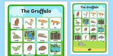 The Gruffalo Vocabulary Matching Mat