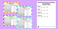 Equivalent Fractions Challenge Cards Romanian Translation