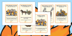 The Great Fire of London Events Timeline Cards Polish Translation