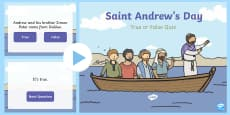 Saint Andrew's Day True or False PowerPoint