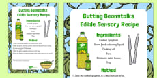 Cutting Beanstalks Edible Sensory Recipe