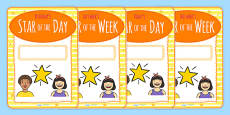 Student (Star) of the Day & Week Display Posters