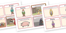 Snow White and the Seven Dwarfs Story Sequencing (4 per A4)