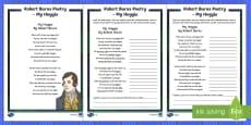 Robert Burns Poetry My Hoggie Activity Sheet