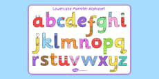 Lower-case Monster Alphabet Image Mat