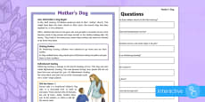 KS2 Mother's Day Differentiated Comprehension Go Respond  Activity Sheets