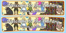 Welcome to the Library Display Banner English/Polish
