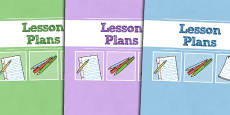 A4 Lesson Plans Divider Covers