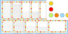 Multicoloured Polka Dot Page Borders