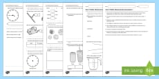 Year 2 Maths Measurement Assessment 1