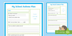 * NEW * My School Asthma Plan A4 Display Poster