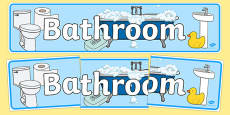 Bathroom Home Role Play Display Banner