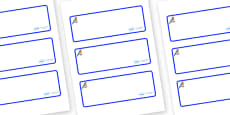 Bluebird Themed Editable Drawer-Peg-Name Labels (Blank)