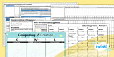 PlanIt - Computing Year 4 - Animation Unit Assessment Pack