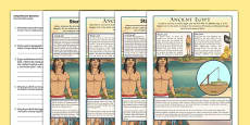 Survival in Ancient Egypt Differentiated Comprehension Activity English/Polish
