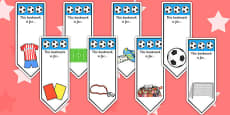 Football World Cup Bookmarks