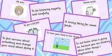 Body Idioms Matching Cards Set 2