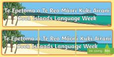 Cook Islands Language Week Bilingual Display Banner Te Reo Māori/English