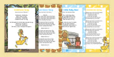 Goldilocks and the Three Bears Songs and Rhymes Resource Pack