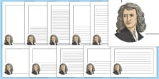 Isaac Newton Themed Page Borders