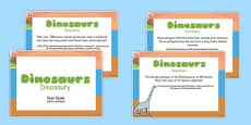 Dinosaur Display Fact Cards Polish Translation
