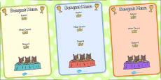 Fairytale Castle Role Play Banquet Menu