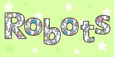 Robot Display Lettering