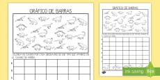 * NEW *Ficha de actividad: Gráfico de barras - Dinosaurios