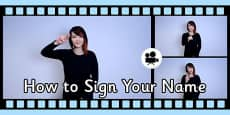 How to Sign Your Name in British Sign Language (BSL) Video Clip